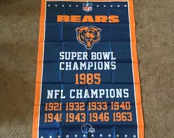 Chicago Bears Super Bowl Banner Championship Flag