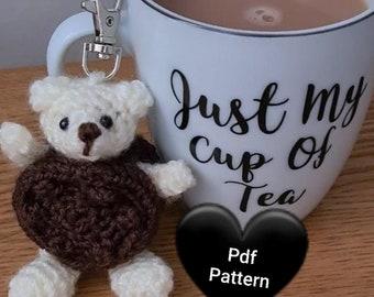 Crochet Pattern - Biscuit Bear Amigurumi UK & US Terms downloadable Joodybloos Joodigurumi