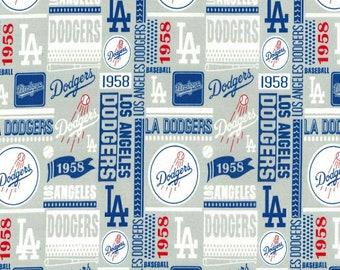 "LA Dodgers Fabric* 100% Cotton *Quarter Yard (9""×44"")* Half Yard (18""×44"")* Full Yard (36""×44"")* Block Print* WORLD CHAMPS 2020*"