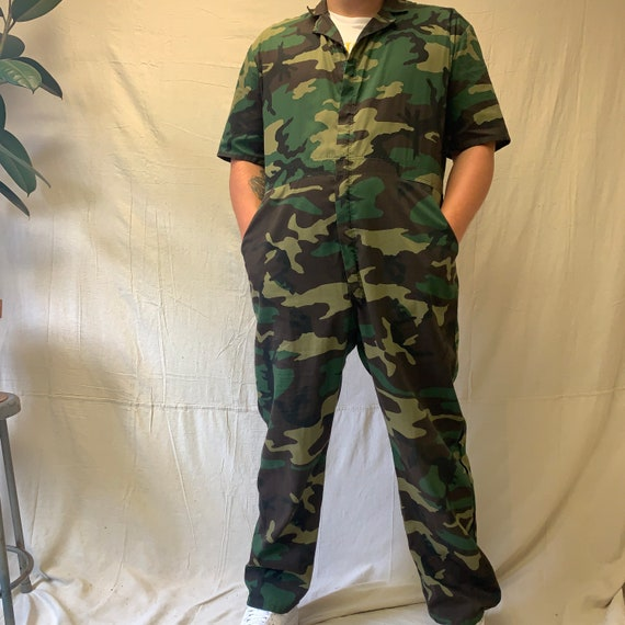 70's Camouflage XL Coveralls