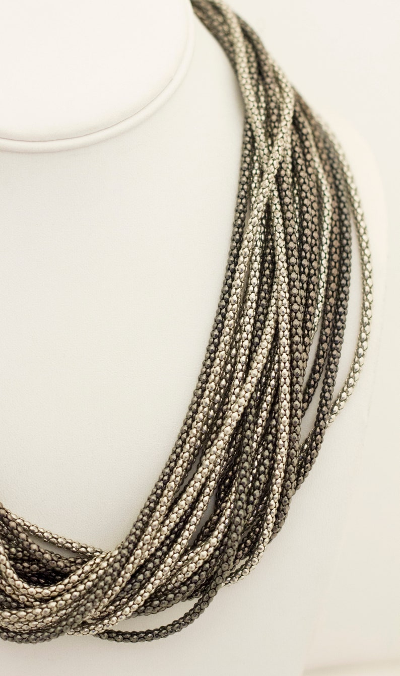 Goth Necklace Multi-strand Necklace Medieval Necklace Statement Necklace 21 Inch Gothic Necklace Viking Necklace,BT1 Grandma Necklace