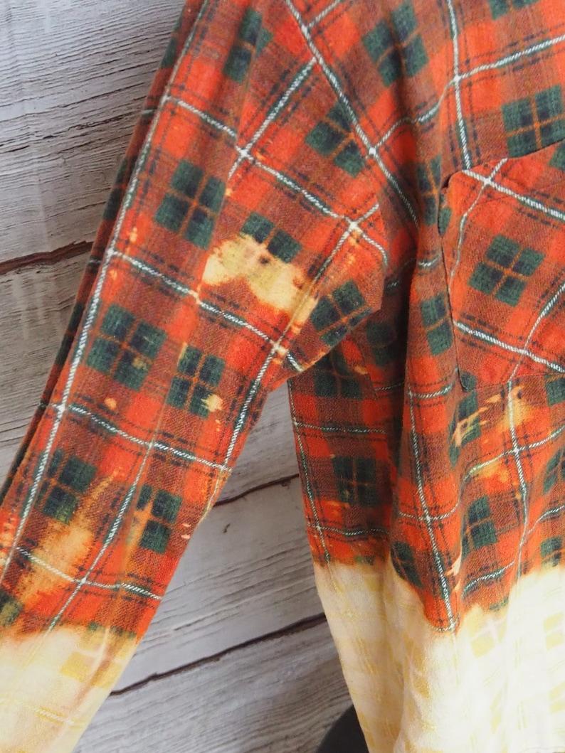 Handmade Bleach Dip Died Flannel