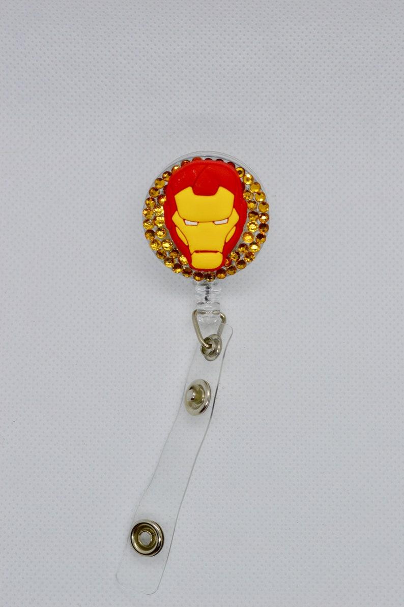 Iron Man Mask Badge Reel
