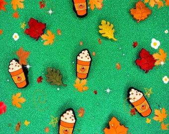 Autumn Pumpkin Spice Latte Shoe Charms