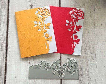 Make your own cards Pop up card in a box kit Foil papers and embossing folder kit Papercraft destash DIY Christmas card making kits