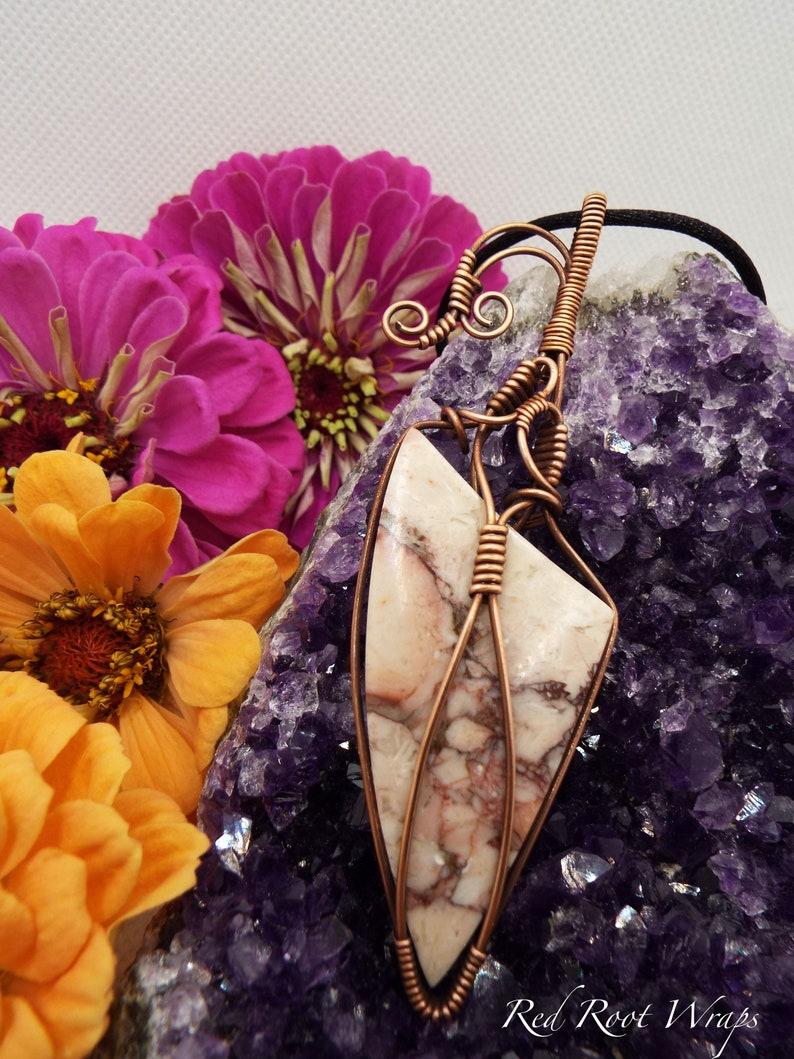 Rose Maligano Jasper Pendant Necklace