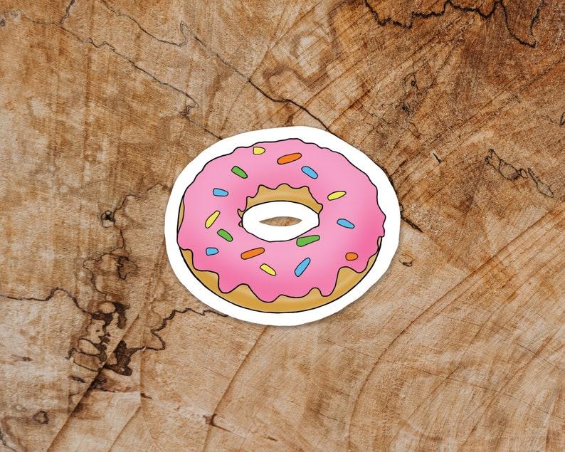 Donut Vinyl Sticker Baked Goods Premium Matte Sticker For image 0