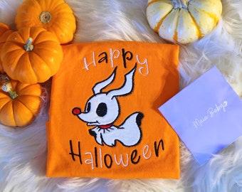 Boys Halloween Shirt, Ghost Shirt, Boys Halloween Zero Dog Shirt , Newborn Halloween, Nightmare Before Christmas, Baby Halloween