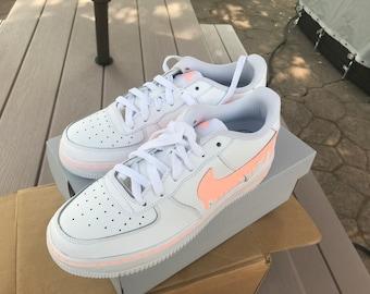 custom white nikes