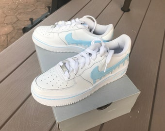 Painted Nike Air Force 1, Drip Painted Women Nikes, Drip Nikes,Custom Shoes, *READ DESCRIPTION*