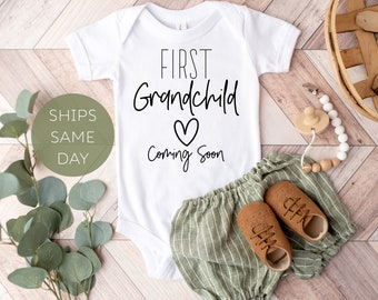 Baby Announcement Onesie® to Grandparents, First Grandbaby Pregnancy Announcement Onesie®, Cute Baby Announcement, Grandparent Reveal