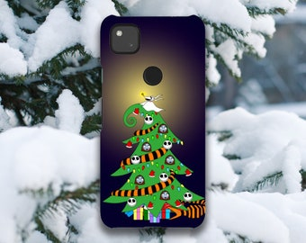 The Nightmare Before Christmas Holiday Tree Google Pixel Case // 4A (4G), 4 XL, 4, 3A XL, 3A, 3 XL, 3
