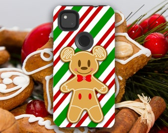 Christmas Holiday Gingerbread Mickey Mouse Cookie Pixel Case // 4A (4G), 4 XL, 4, 3A XL, 3A, 3 XL, 3