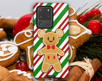Christmas Holiday Gingerbread Mickey Mouse Cookie Samsung Case // S21 Ultra S21+ S21 (S8 and newer) Note 20 Ultra Note 20 (Note 8 and newer)