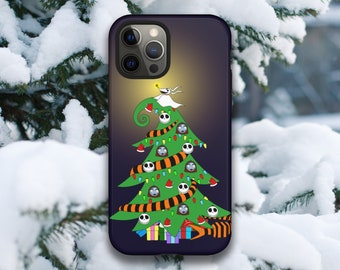 The Nightmare Before Christmas Holiday Tree iPhone Case // 12 Pro Max, 12 Pro, 12 Mini, 12, 11 Pro Max, 11 Pro, 11, (8 and newer)