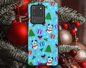 Christmas Holiday Mickey Mouse Disney Samsung Galaxy Case // S21 Ultra, S21+, S21, (S8 and newer), Note 20 Ultra, Note 20 (Note 8 and newer)