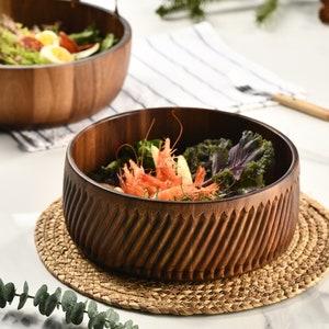 Federal Glass Columbia Ruffled Edge Vegetable Salad Fruit Serving Bowl