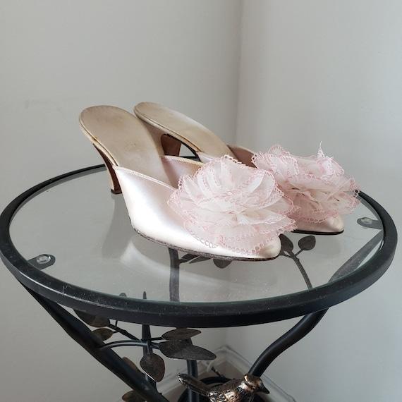 1950s/1960s Pink Satin Daniel Green Boudoir Bedroo