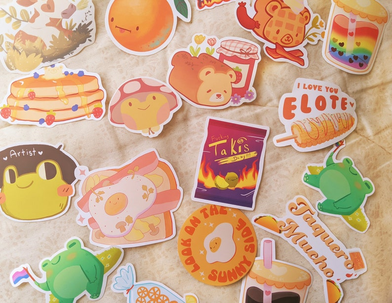 Matte and Glossy Waterbottle Planner Stickers Mystery Sticker Pack Mystery Sticker Bundle