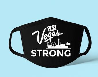 Las Vegas Strong Face Mask, Las Vegas Face Mask, Washable Face Mask, Funny Face Mask, Reusable Face Mask, Funny Mask,  Handmade