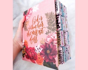 PERSONALIZE Bible, Custom Name & Tabs, NIV Journaling Bible, Bible with Tabs, Pink Floral, Floral Bible, Gift Bible, Best Seller Bible