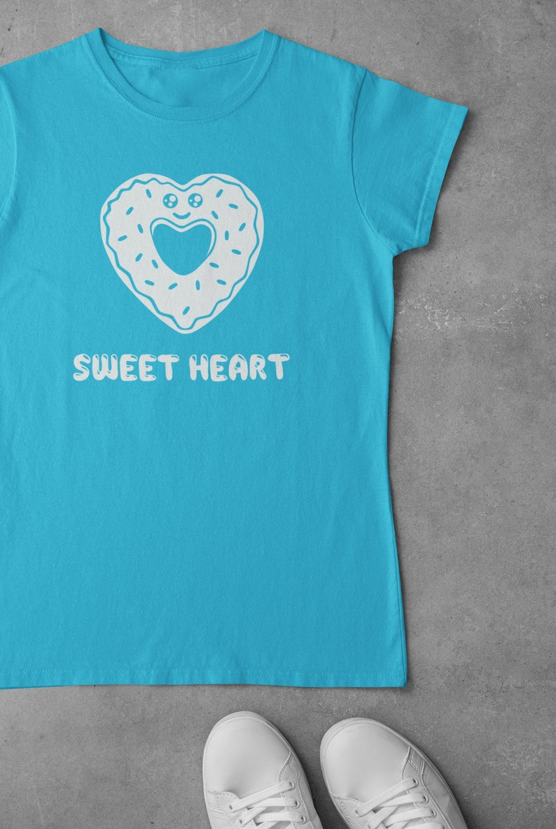 Girls Sweet Heart Shirt Turquoise