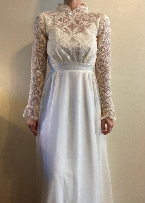 Petite Lace Wedding Gown