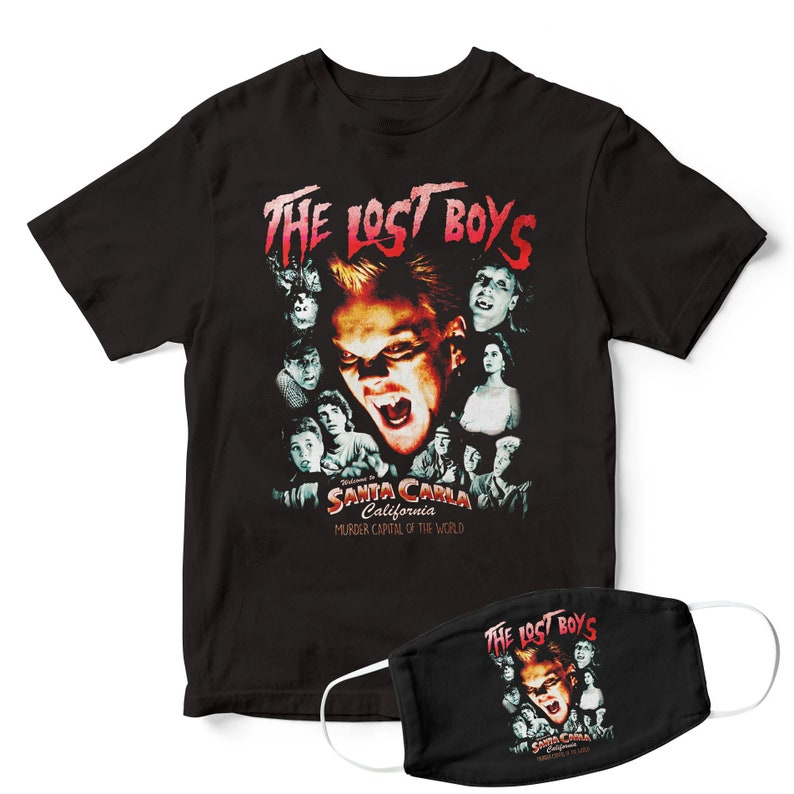 The Lost Boys Santa Carla T-shirt with Mask, S to 5XL