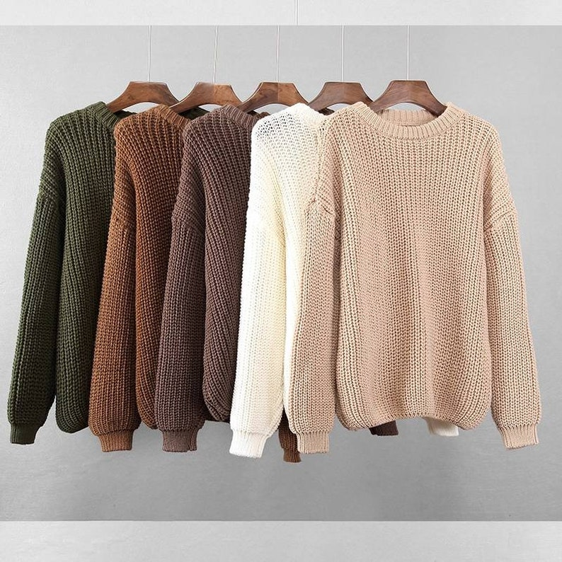 Loose Autumn Sweaters For Women  New Korean Elegant Knitted image 1