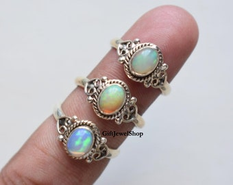 Details about  /Gold Plated Ring Natural Ethiopian Opal Ring 925 Sterling Silver Handmade Jewelr