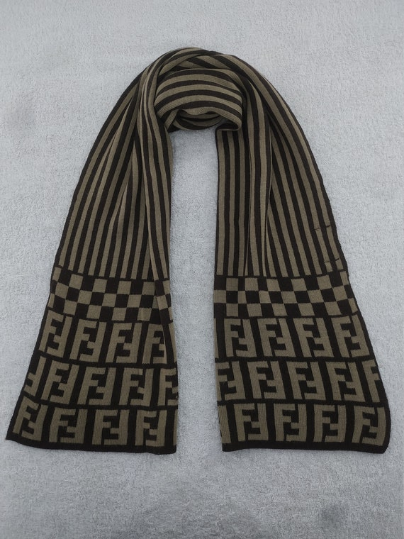 Vintage Fendi Scarf Muffler Accessories Wrap Fendi
