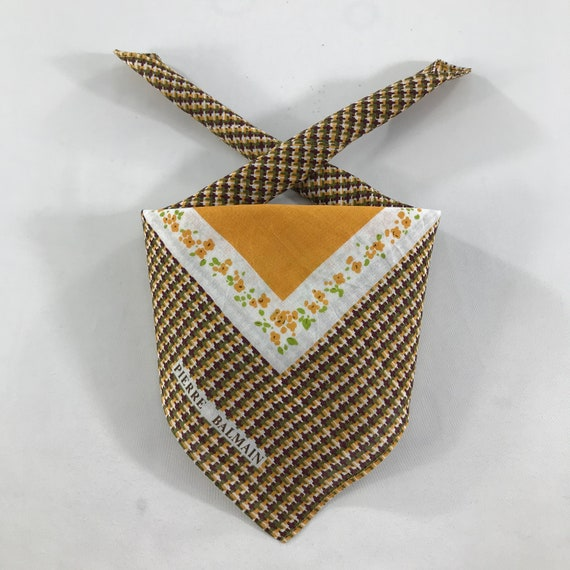 Authentic Pierre Balmain Scarves,Pierre Balmain Handkerchief,Pierre Balmain Accessories,Luxury Accessories,Luxury Gift