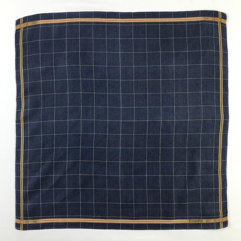 Vintage Chaps Handkerchief Pocket Square Neckerchief Face Mask Floral Babushka Bandana Accessories Head Band Hair Tie