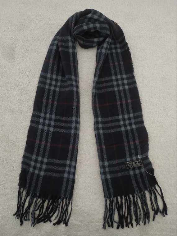 Vintage Burberry Scarf Luxury Accessories Wool Sca