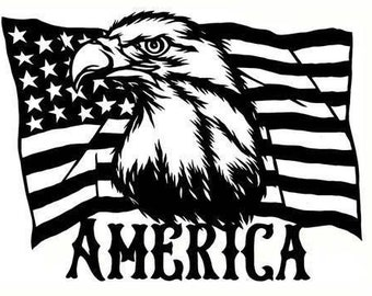 American flag. Flag of the united states of america with american bald eagle .