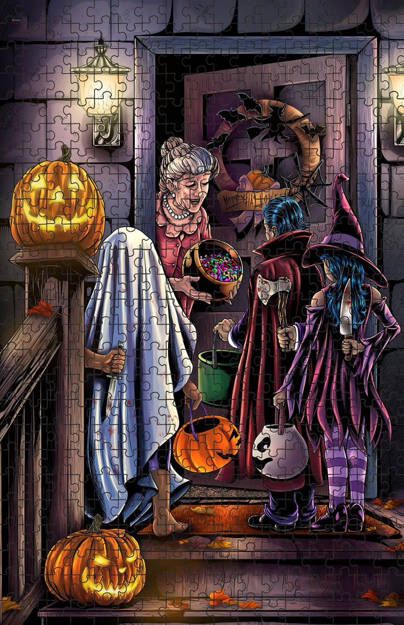 Halloween Tricked ( 20 x 30 inches Premium 1000 Piece Jigsaw Puzzle, Made in USA! )