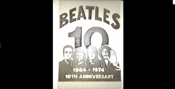 The Beatles Vintage T-Shirt Transfer 70's Genuine