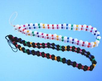 Beaded Rainbow Phone Charm | 90s Aesthetic | Y2K | Phone Chain | Rainbow Phone Strap | Phone Accessory | Phone Wristlet
