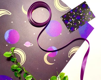 Space Print Wrapping Paper