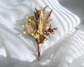 Autumn boutonnière | Boho boutonnière | Preserved flowers | Dried flowers | Boho Wedding