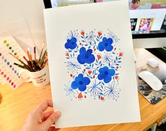 Blue Flower Pattern Original