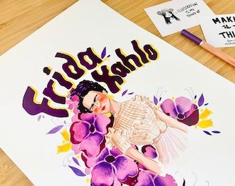 Frida Kahlo Original Watercolour