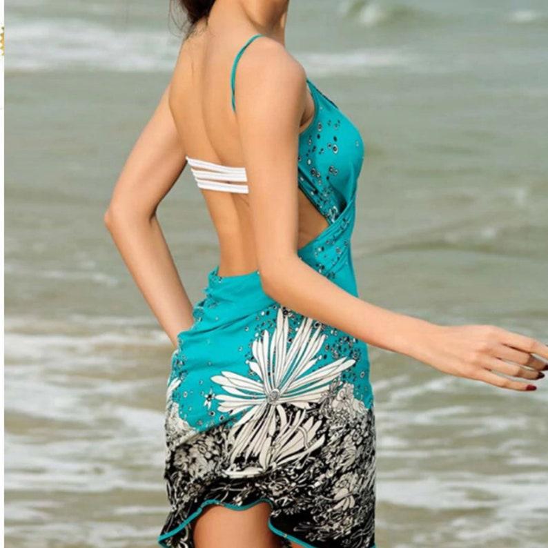 Beach Dress Sling Beach Wear Deep V Neck Dress