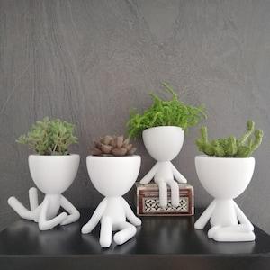 Polar Bear Ceramic Flower Pot Succulent Ceremic Planter Pottery Home Decor Airplant Holder Home Decor Office Decor HP033