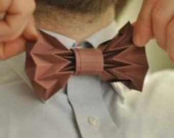 THE BOW-TIE, from paper, made of cardboard, 3d bow tie, + bonus
