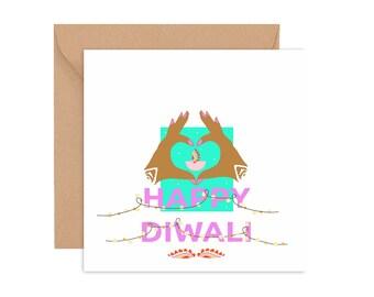 With Love in Diwali, Diwali Card, Diwali Greeting card, Diwali greetings
