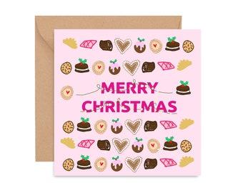 Christmas card, Christmas Cookies, Cards of Colour Christmas card, Festive greetings, Christmas Greeting card, Diverse Christmas Card