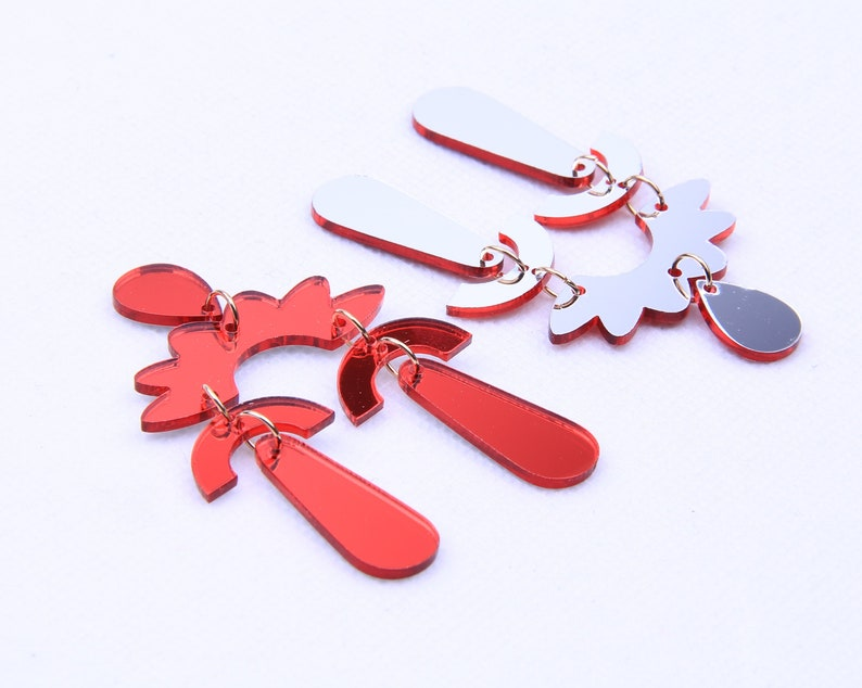 Acrylic mirror earring combination pendant-acetate earring charms-Special shape earring connector-earring findings-Earring parts  BR0675