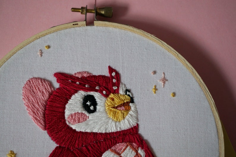 Celeste Animal Crossing Embroidery