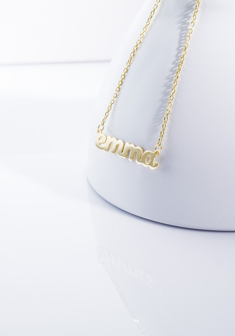 Mothers Day Gift Personalized Jewelry Name Necklace Personalized Name Necklace DAINTY CUSTOM NAME Necklace Gold Mama Necklace